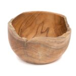 Rough Top Round Teak Bowl