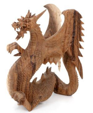 Carved Dragon - 30 cm - Natural