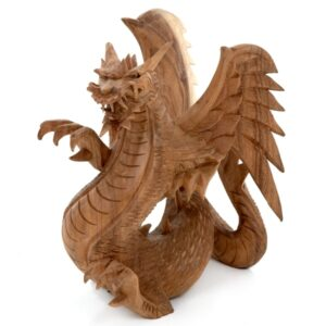 Dragon with Wings - 25 cm - Natural