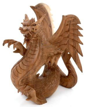 Carved Dragon - 25 cm - Natural