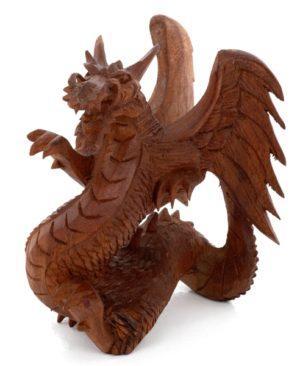 Carved Dragon - 15 cm Brown