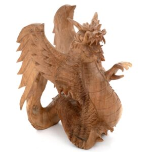 Dragon with Wings - Natural Finish 15 cm
