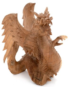 Carved Dragon - 15 cm - Natural