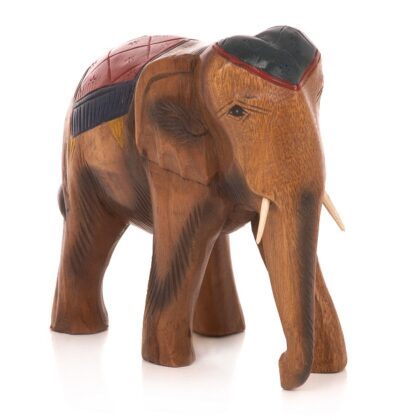Carved Elephant with Blanket