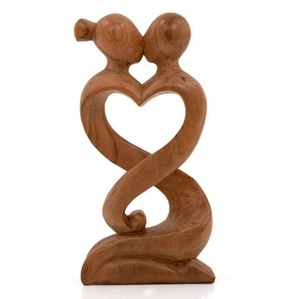 Abstract Entwined Lovers – 40cm Dark