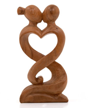 Abstract Entwined Lovers – 40cm, Dark
