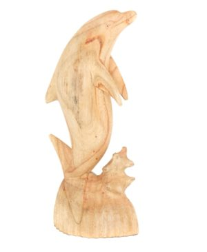 Single Wooden Dolphin - Medium 40cm