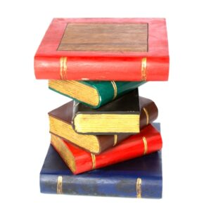Book Stack Table - Painted Gold