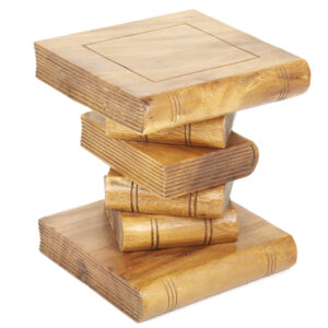 Mini Book Stack Table - Waxed
