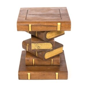 Book Stack Table - Waxed Gold