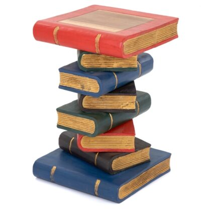 Large Book Stack Table - Painted Gold