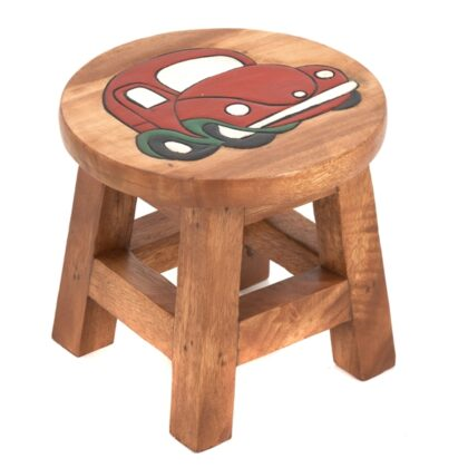 Childs Red Car Stool