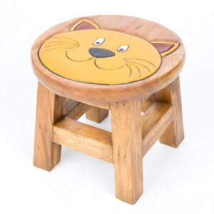 Childs Stool - Cat Face
