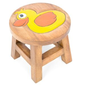 Kids Wooden Stool with Duck Design