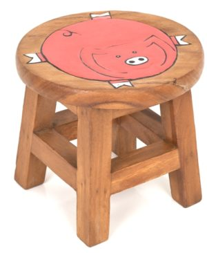 Childs Stool - Pig