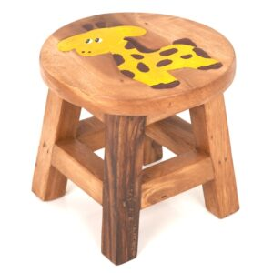 Childs Stool with Giraffe Design