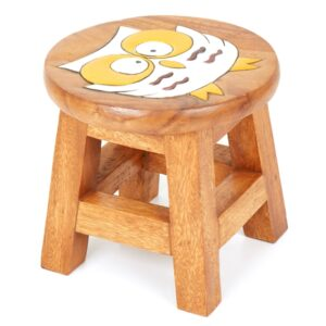 Childs Stool - Owl