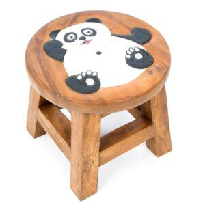 Kids Wooden Stool with Panda Design 2