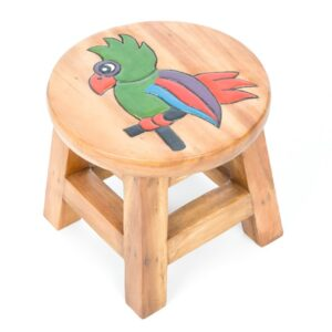 Childs Stool - Parrot