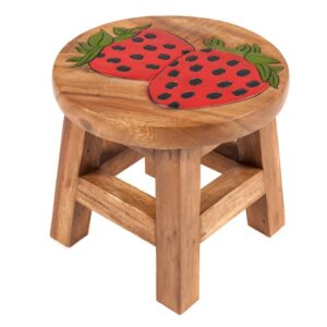 Kids Stool with Strawberry Design