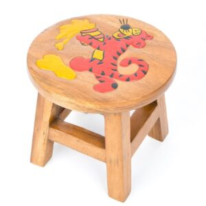Kids Stool with Tiger Design