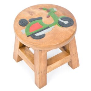 Children's Wooden Stool - Scooter