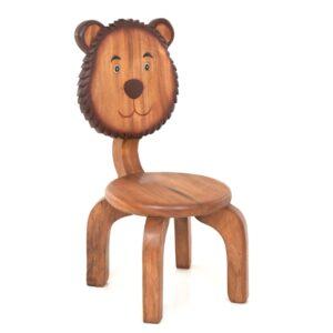 Kids Wooden Bear Chair