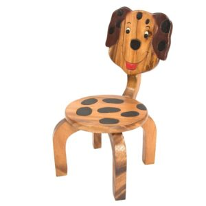 Kids Wooden Chair with Dog Design
