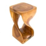 Twisted Infinity Stool - Square - Honey - 11 x 20