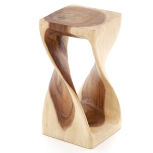 Twisted Infinity Stool - Square - Clear - 8 x 16