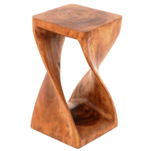 Twisted Infinity Stool - Square - Waxed - 8 x 16