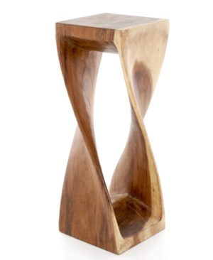 Twisted Infinity Stool - Square - Clear - 11 x 30