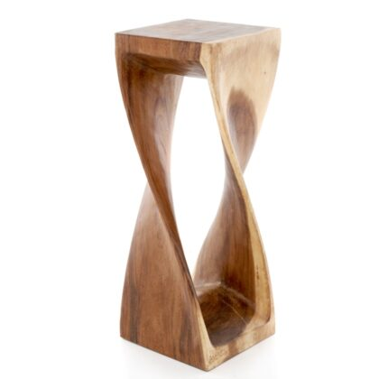 Square Twisted Infinity Stool - Clear - X Large