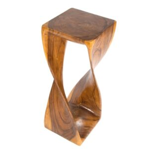 Twisted Infinity Stool - Square - Honey - 11 x 30