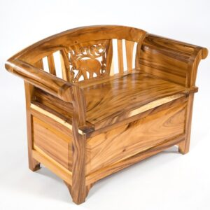 Chair with Blanket Box - Clear