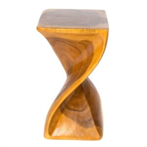 Square Twisted Infinity Stool - Honey - 11 x 20