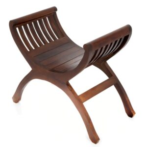 Java Single Teak Yuyu Chair - Dark