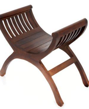 Java Single Teak Yuyu Chair - Dark