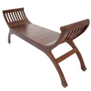 Java Teak Yuyu Double Chair - Dark