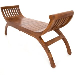 Java Teak Yuyu Double Chair - Light
