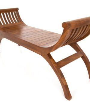Java Teak Yuyu Double Chair - Light