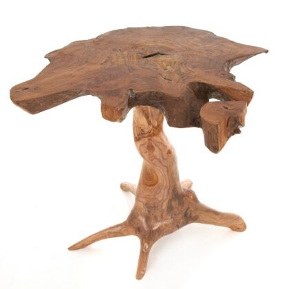 Hand Carved Teak Root Wooden Table - Large