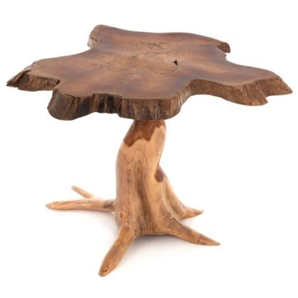 Hand Carved Teak Root Wooden Table - Medium