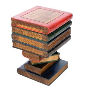 Book Stack Table with Box - Painted