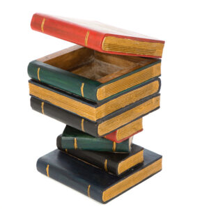 Book Stack Table with Box - Painted / Gold