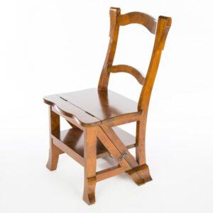 Folding Step Chair - Dark Finish