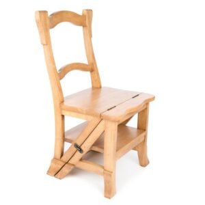 Folding Step Chair - Light Finish
