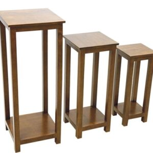 Trio of Accent Console Tables - Dark