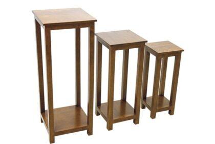 Trio of Accent Console Tables - Dark