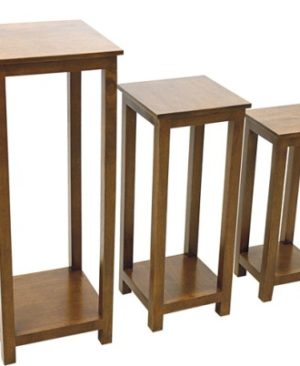 Accent Telephone Plant Stand - set of 3 - Dark
